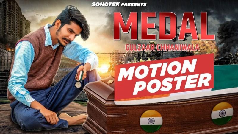 gulzar song-Gulzaar Chhaniwala : Medal ( Motion Poster ) : Latest Haryanvi songs Haryanavi 2019 | Sonotek-gulzar chhaniwala song
