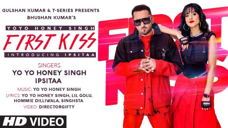 t series new song First Kiss: Yo Yo Honey Singh Ft. Ipsitaa | Bhushan Kumar | Lil Golu, Singhsta, Hommie D, DirGifty