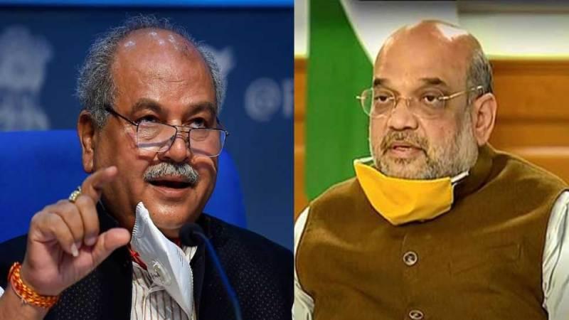 Amit Shah and Narendra Singh Tomar hold talks on Farmers Protest   किसान नेताओं से बातचीत पर केंद्र ने शुरू किया मंथन, Amit Shah और Narendra Tomar के बीच हो रही बैठक