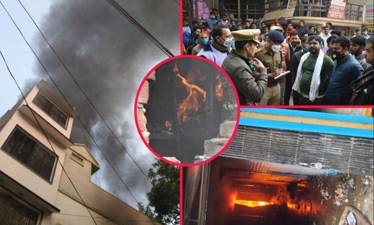 Gorakhpur Fire News: Fire In Bangle And Jewellery Shop In Make Up Market Of Gorakhpur Burnt Goods – Gorakhpur: दुकान में लगी भीषण आग, दमकल की सात गाड़ियों ने कड़ी मशक्कत के बाद पाया काबू