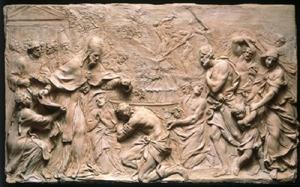 Popeliberiusbaptizingneophytesc.1648Alessandroalgardi