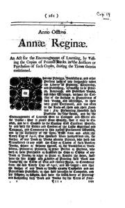 Statute Of Anne 1