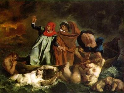 Dante Divine Comedy   Barque Of Dante