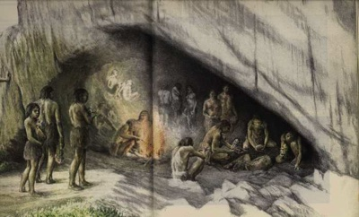How long ago did cavemen live?