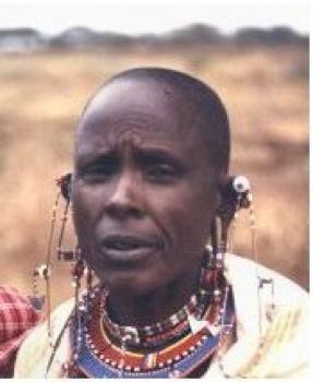 Okiek Woman In Kenya