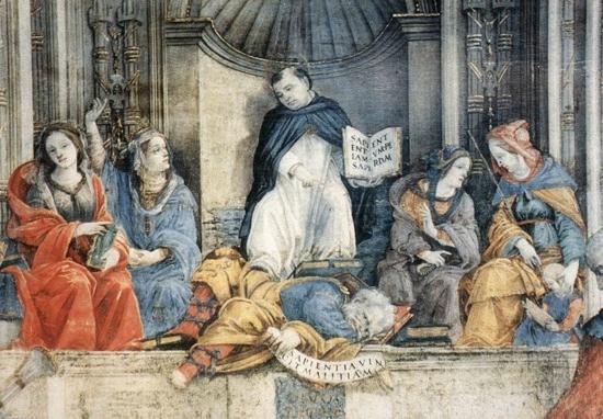 12959-Triumph-Of-St-Thomas-Aquinas-Over-T-Filippino-Lippi