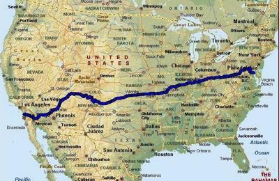 Race-Across-America-Map