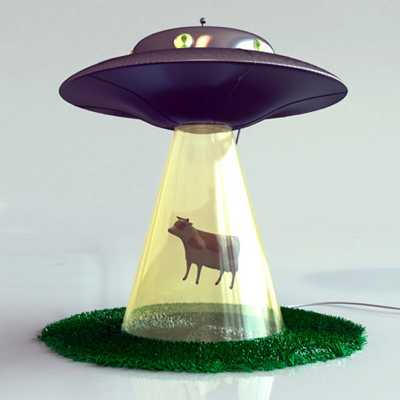 Abductionlamp Cow Ill 500X5