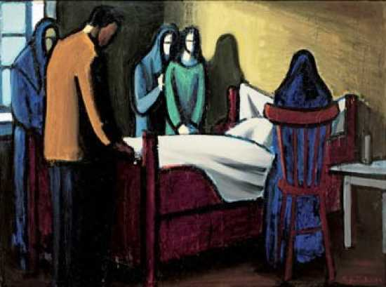 At-The-Deathbed-1940-By-Samal-Joensen-Mikines