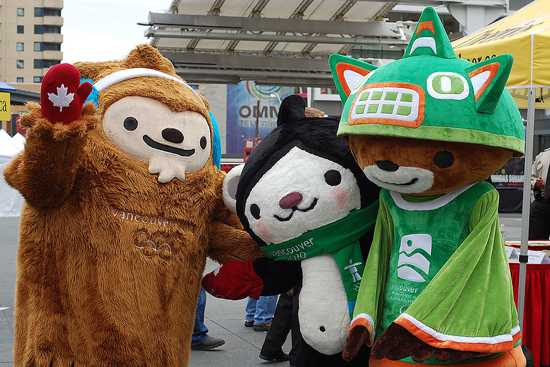 Mascots Quatchi Miga And Sumi