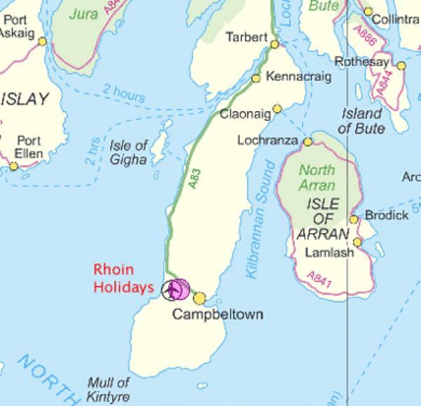 Kintyre Map