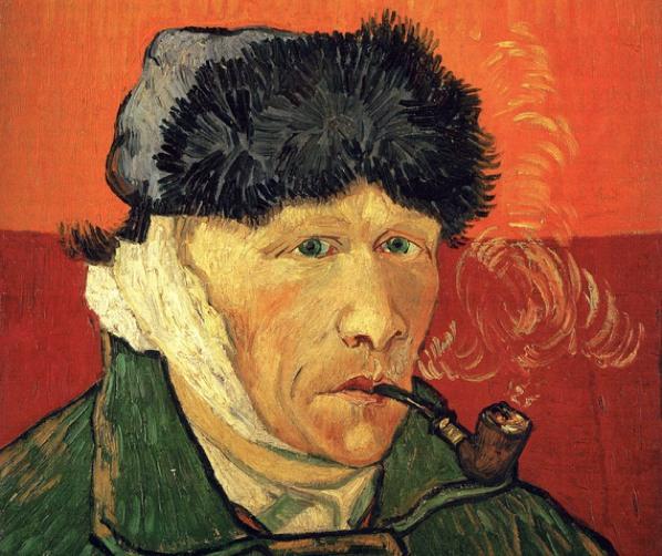 Van Gogh Self-portrait after sliced ear