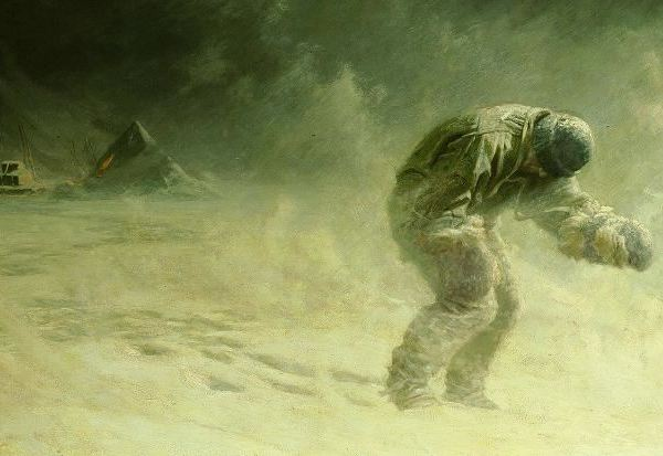 A Painting of Oates' Sacrifice