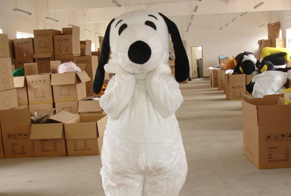 A Man Dressed As Snoopy