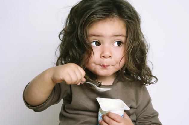 Girl-Eating-Yogurt