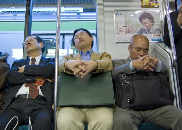 Schlafende Japaner