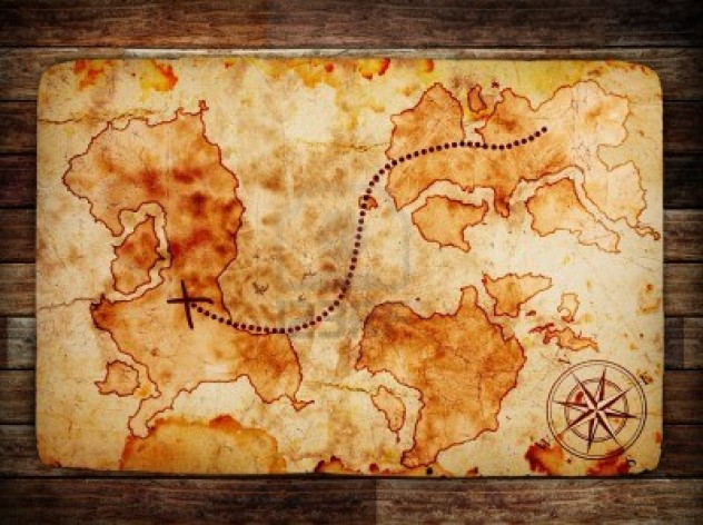 12691859-old-treasure-map-on-wooden-background