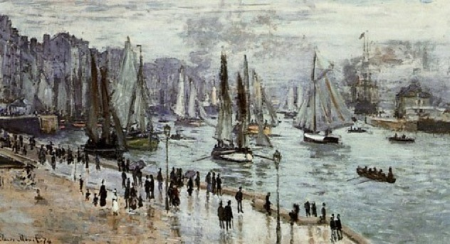 Fishing Boats Leaving The Port Of Le Havre 1874