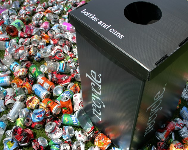 recycle bottles and cans