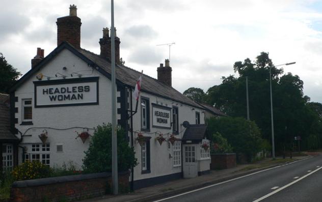 headless woman pub