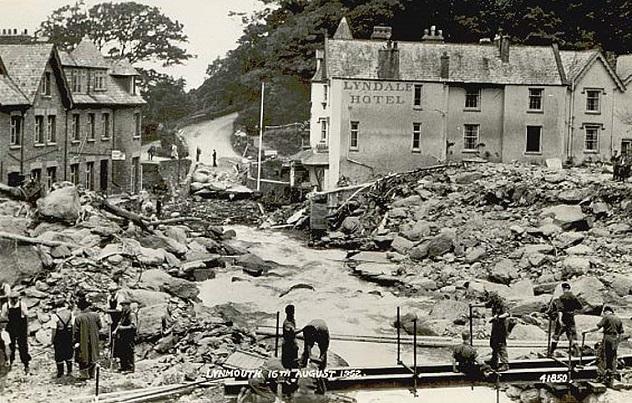 Devon, Lynmouth Floods 1952