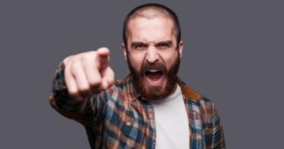 Man Yelling Slur