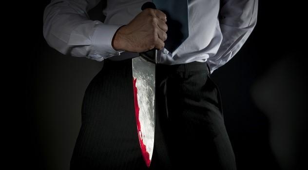teacher with knife