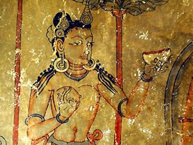 Buddha Cave Painting