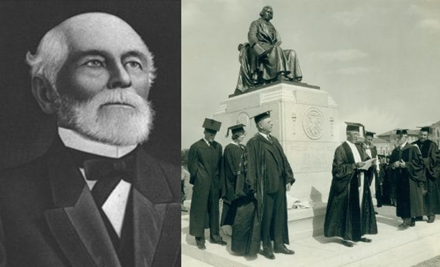 Unveiling ceremony of the statue of William Marsh Rice, Rice Institute