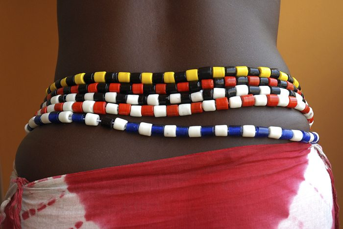 beads around the waist