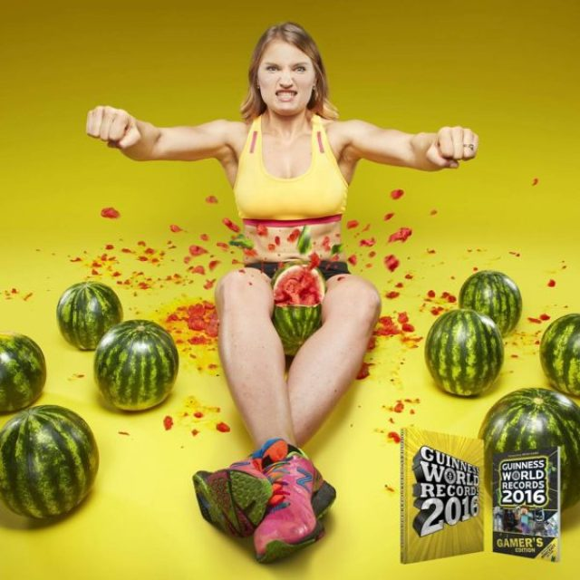 Woman Crushes WaterMelons With Her Thighs