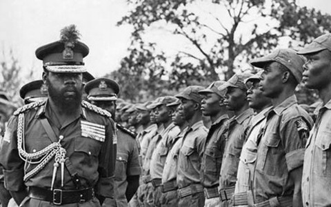 Ojukwu in the Biafran war