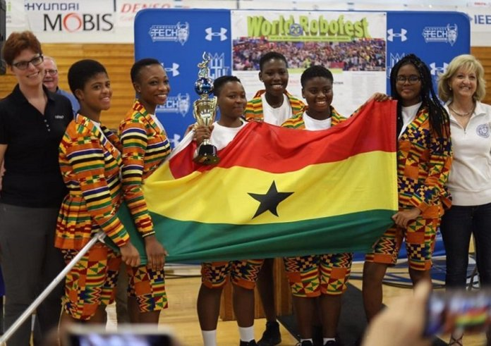 All-girls robotics team from Ghana wins World Robofest Championship in the U.S.