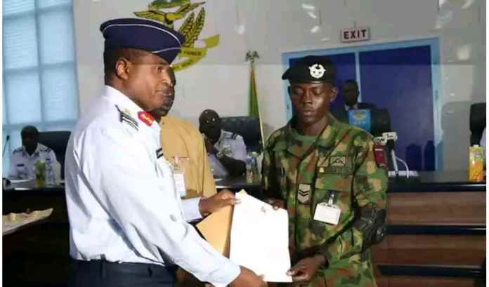 Nigeria Air Force Promotes Officer who Returned missing €37,000