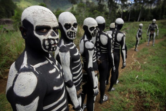 Dancing With The Dead: Meet The Chimbu Skeleton Dancers of Papua New Guinea