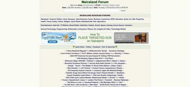 Nairaland is the third most Visited Website in Nigeria