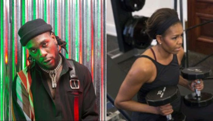 Burna Boy makes Michelle Obama's workout playlist for 2020