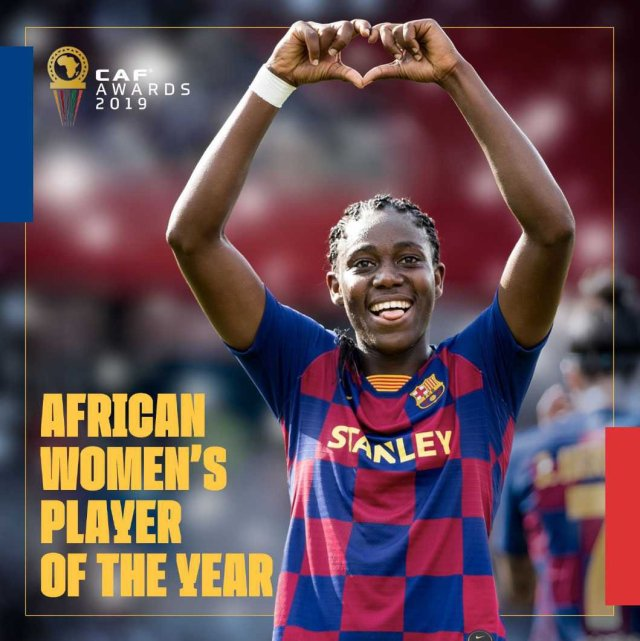 Oshoala Named African Player of the Year for 2019