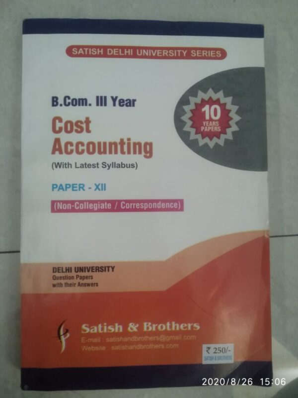 Cost accounting ten year