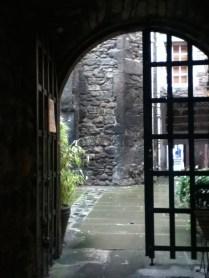One of the oldest courtyard gardens near to Edinburgh Castle