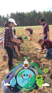 EN453 Planting spinach on Earth Day!