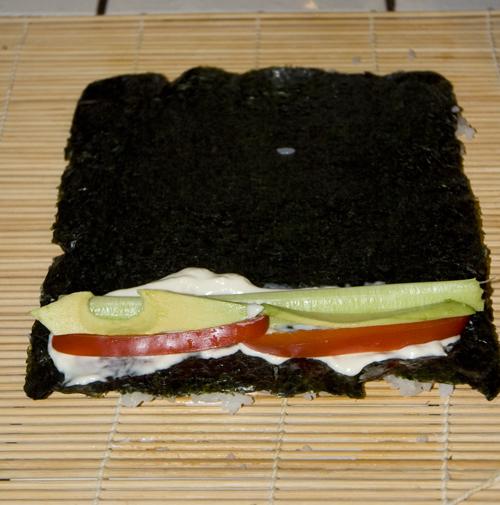 flipped sushi