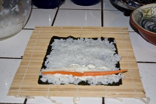 Carrot Sushi Roll
