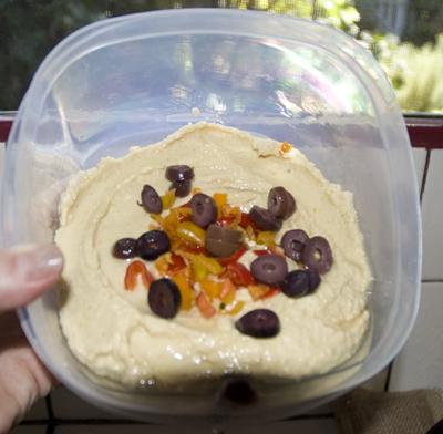 Bowl of homemade hummus