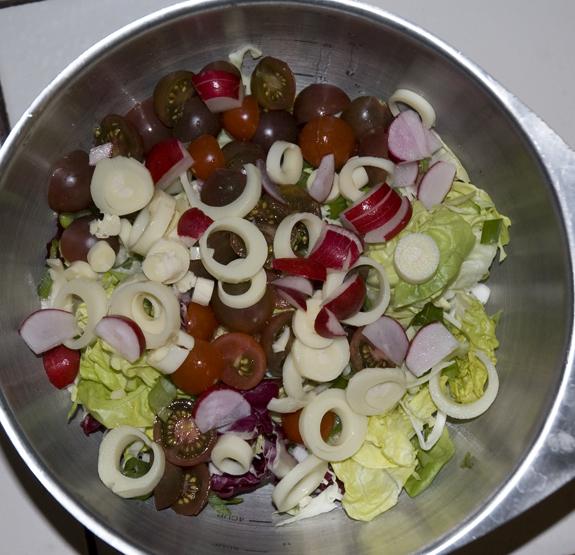 delicious salad ingredients