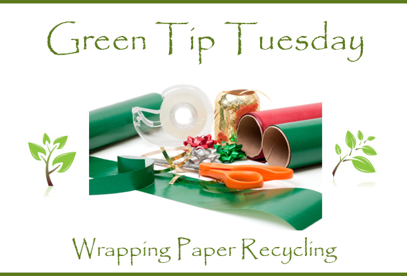 Green Tip Tuesday Recycling Wrapping Paper