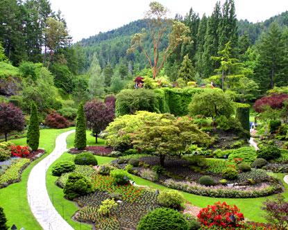 Butchart gardens view