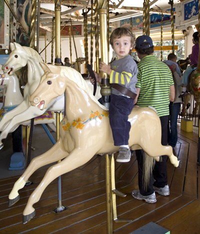 Westly on carousel