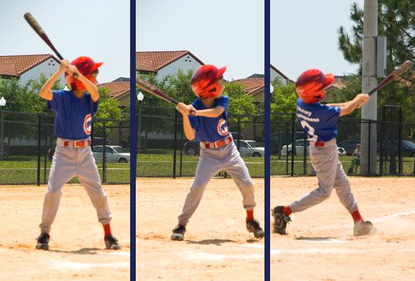 Ty playing baseball