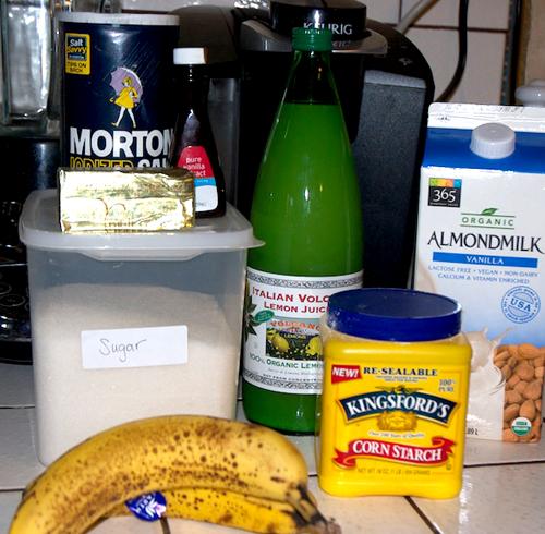 vegan banana pudding bar ingredients